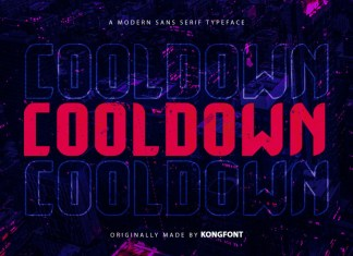 Cooldown Display Font