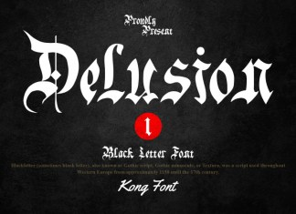Delusion Blackletter Font