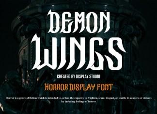 Demon Wings Display Font