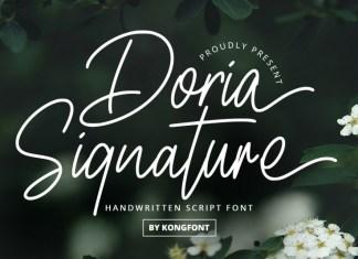 Doria Signature Script Font