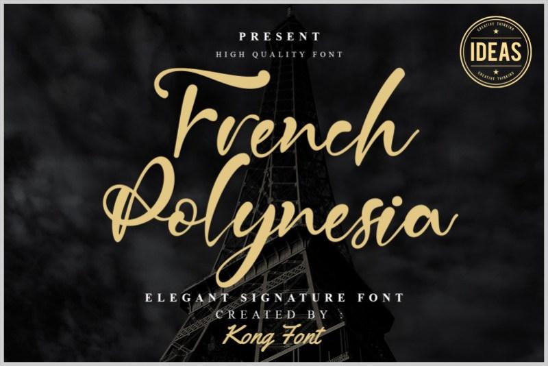 French Polynesia Script Font