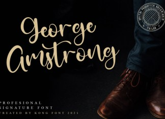 George Amstrong Script Font