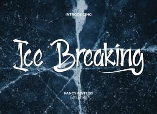 Ice Breaking Script Font