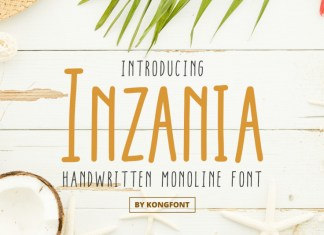 Inzania Display Font
