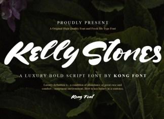 Kelly Stones Brush Font
