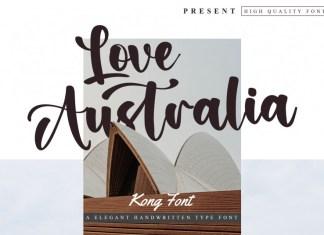 Love Australia Script Font