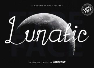 Lunatic Script Font