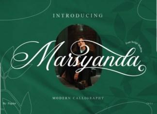 Marsyanda Calligraphy Font