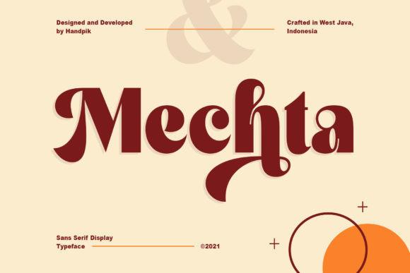 Mechta Sans Serif Font