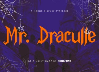 Mr.Draculle Display Font