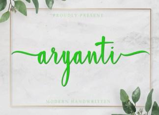 Aryanti Calligraphy Font