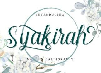 Syakirah Script Font