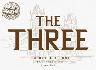 The Three Display Font