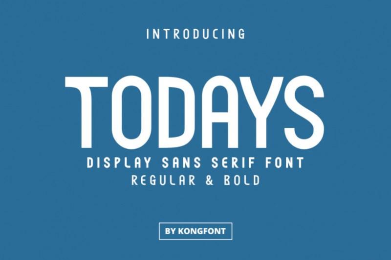 Todays Sans Serif Font