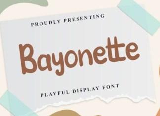 Bayonette Display Font