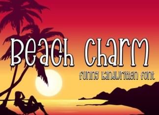 Beach Charm Display Font