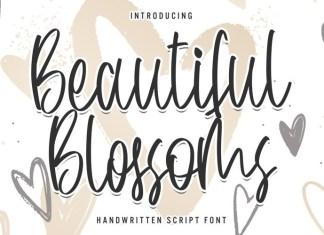 Beautiful Blossoms Script Font