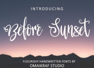 Before Sunset Script Font