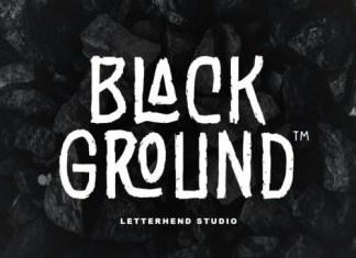 Black Grounds Display Font