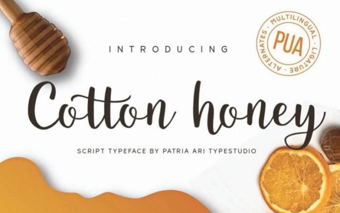 Cotton Honey Calligraphy Font