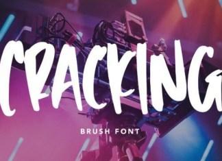Cracking Brush Font
