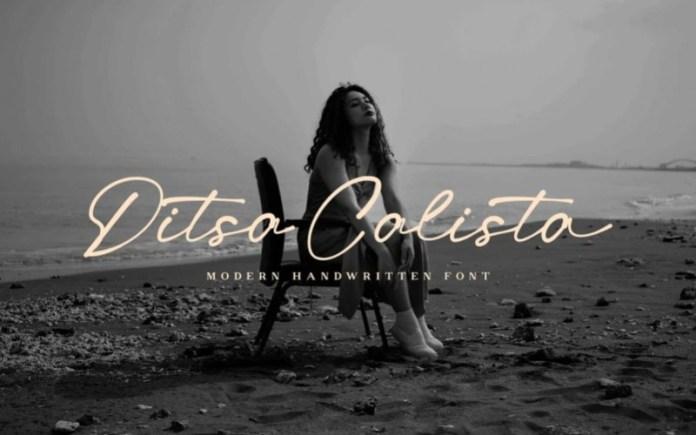 Ditsa Calista Handwritten Font