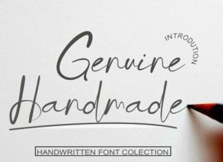 Genuine Handmade Script Font