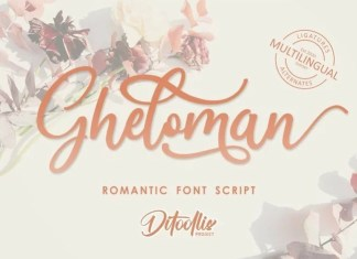 Gheloman Calligraphy Font