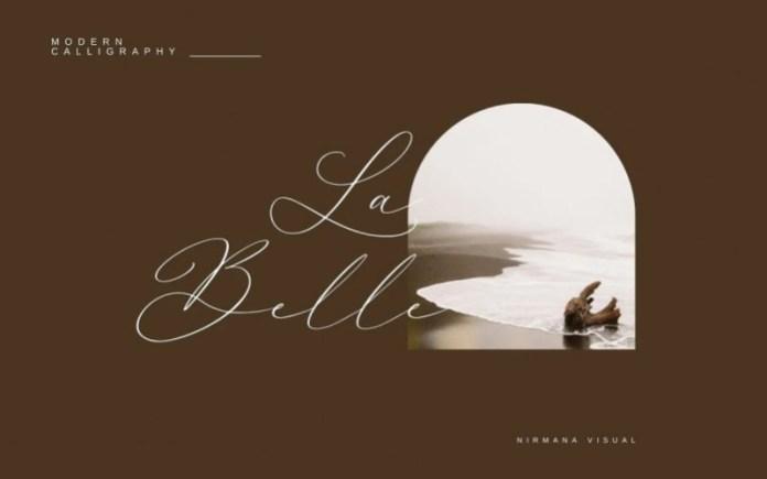 La Belle Script Font