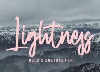 Lightness Script Font