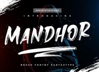 Mandhor Brush Font
