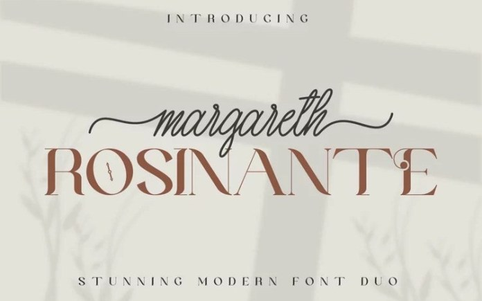 Margareth Rosinante Font Duo