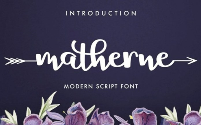 Matherne Script Font