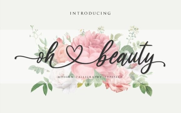 Oh Beauty Calligraphy Font