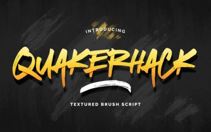 Quakerhack Brush Font