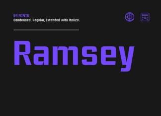 Ramsey Sans Serif Font