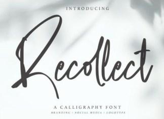 Recollect Script Font
