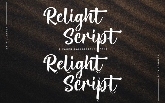 Relight Calligraphy Font
