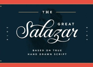 Salazar Calligraphy Font