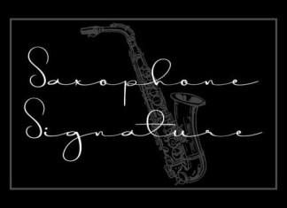Saxophone Handwritten Font