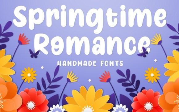Springtime Romance Display Font