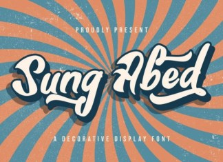 Sung Abed Script Font