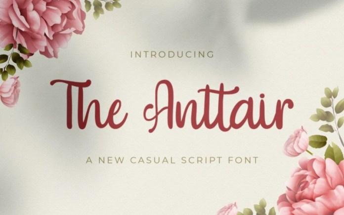 The Anttair Script Font