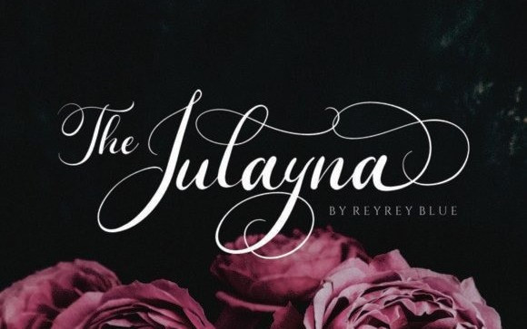 The Julayna Calligraphy Font