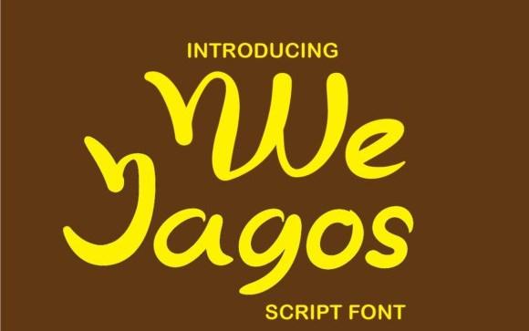 We Jagos Script Font