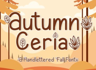 Autumn Ceria Display Font