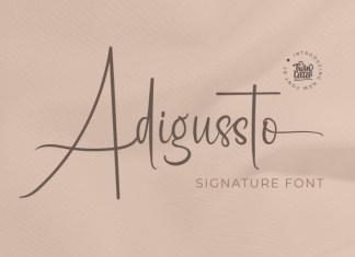 Adigussto Script Font