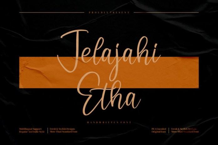 Jelajahi Etha Script Font