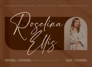 Roselina Ellis Script Font