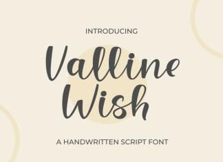 Valline Wish Handwritten Font